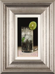 Raymond Campbell, Original oil painting on panel, Slice of Lime
