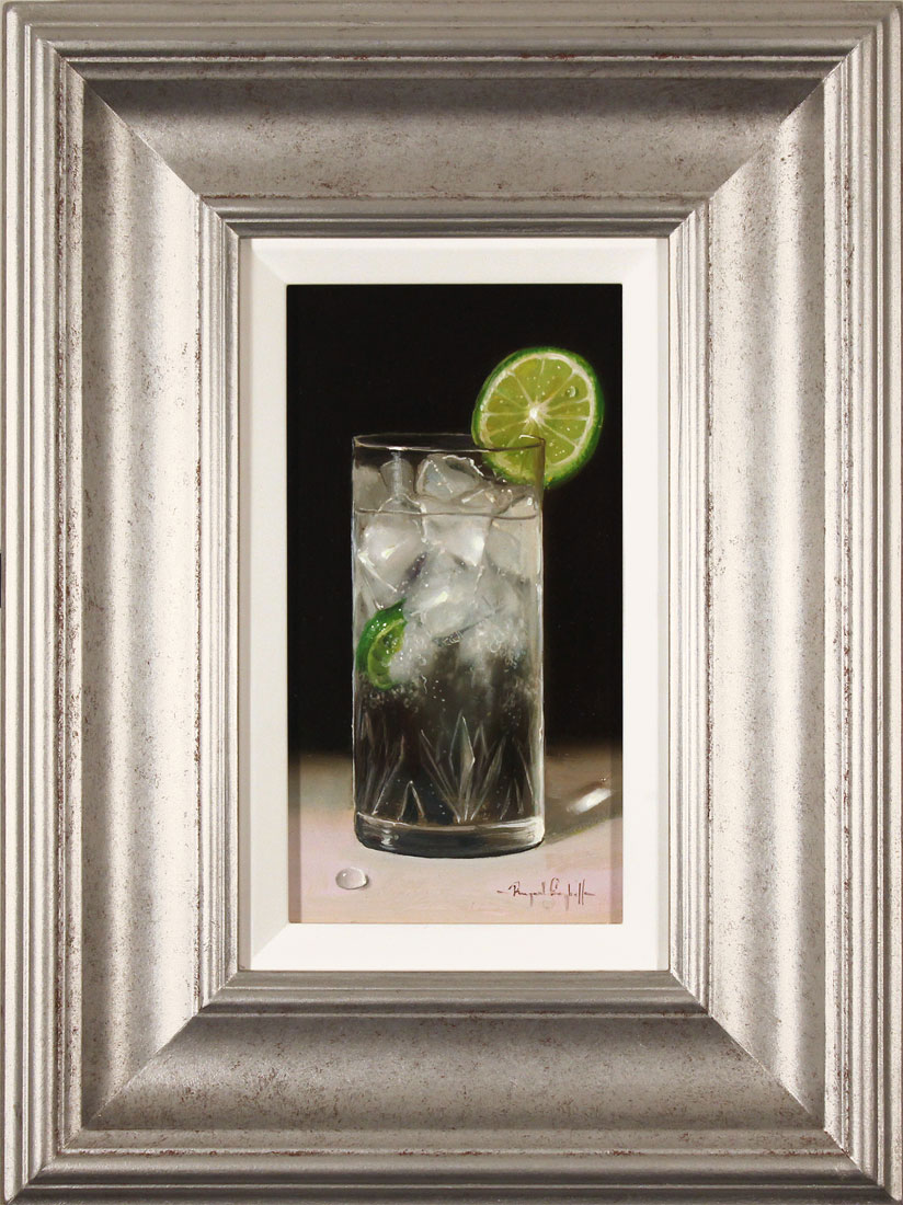 Raymond Campbell, Original oil painting on panel, Slice of Lime, click to enlarge