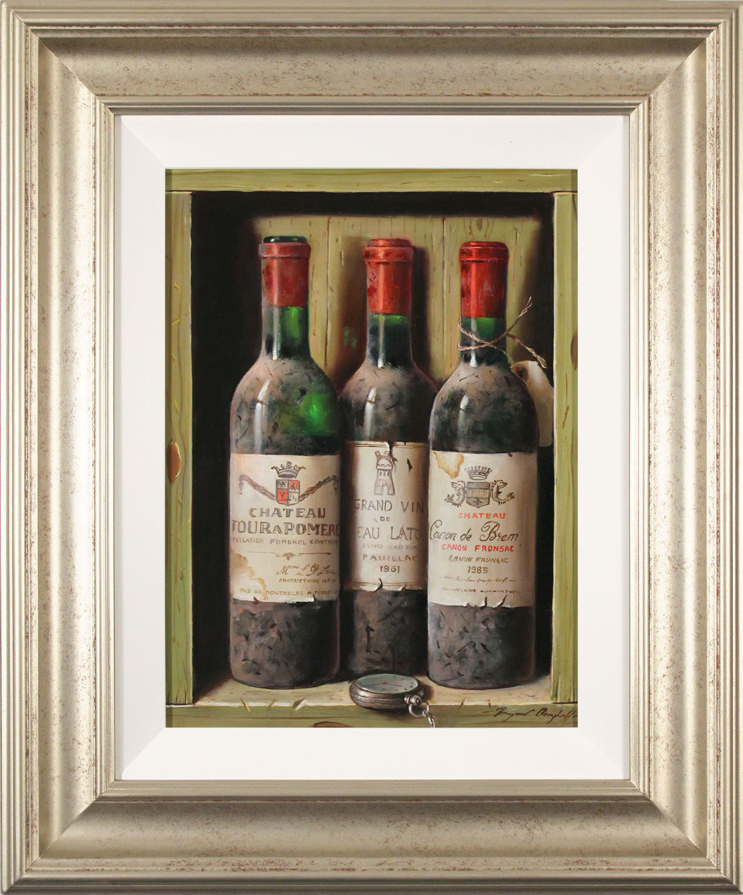 Raymond Campbell, Original oil painting on panel, A Triple Vintage, click to enlarge