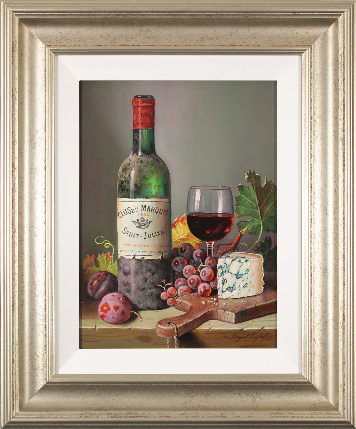 Raymond Campbell, Original oil painting on panel, Clos du Marquis, 1990, click to enlarge