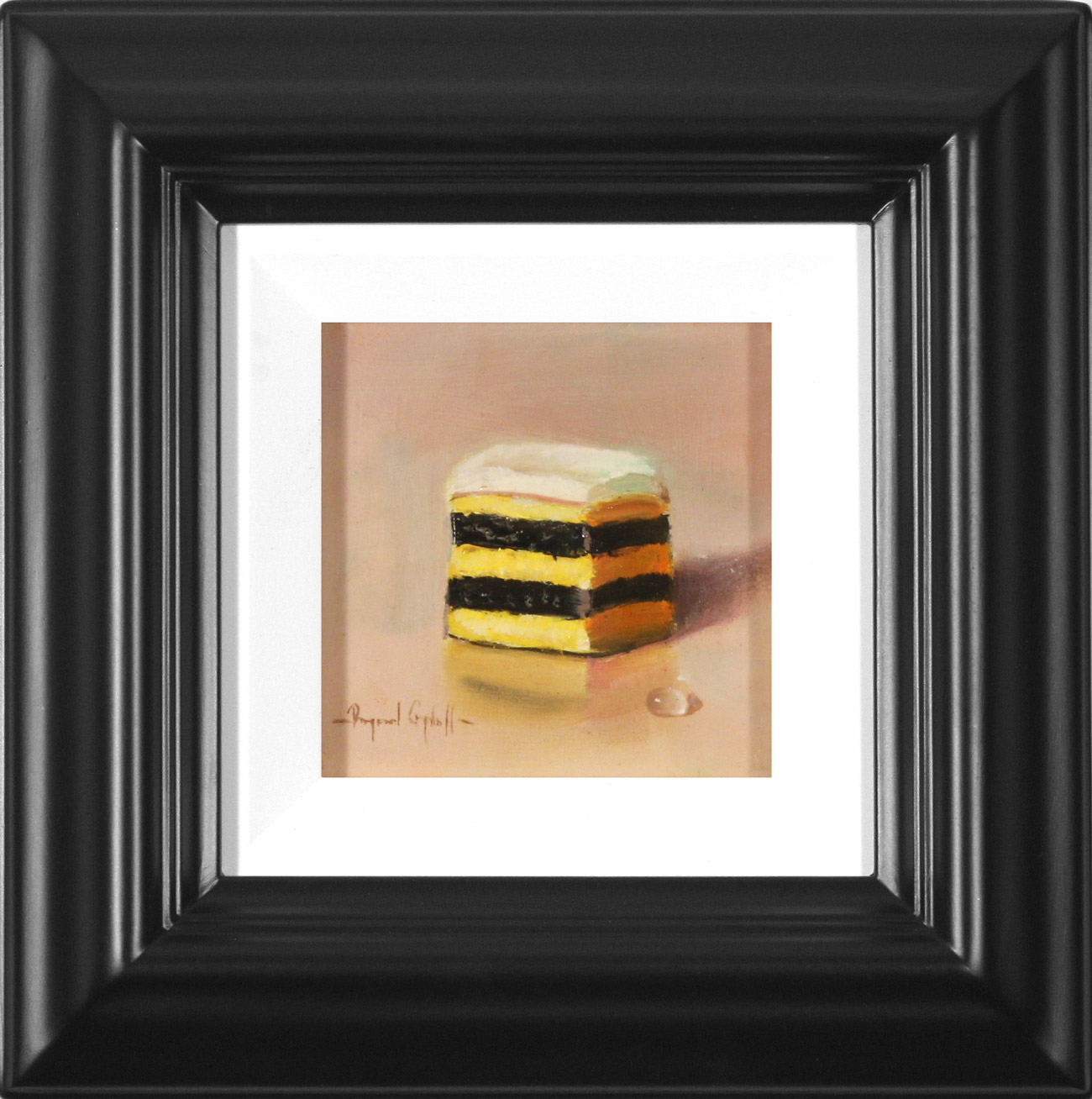 Raymond Campbell, Original oil painting on panel, Double Stack Liquorice Allsort , click to enlarge