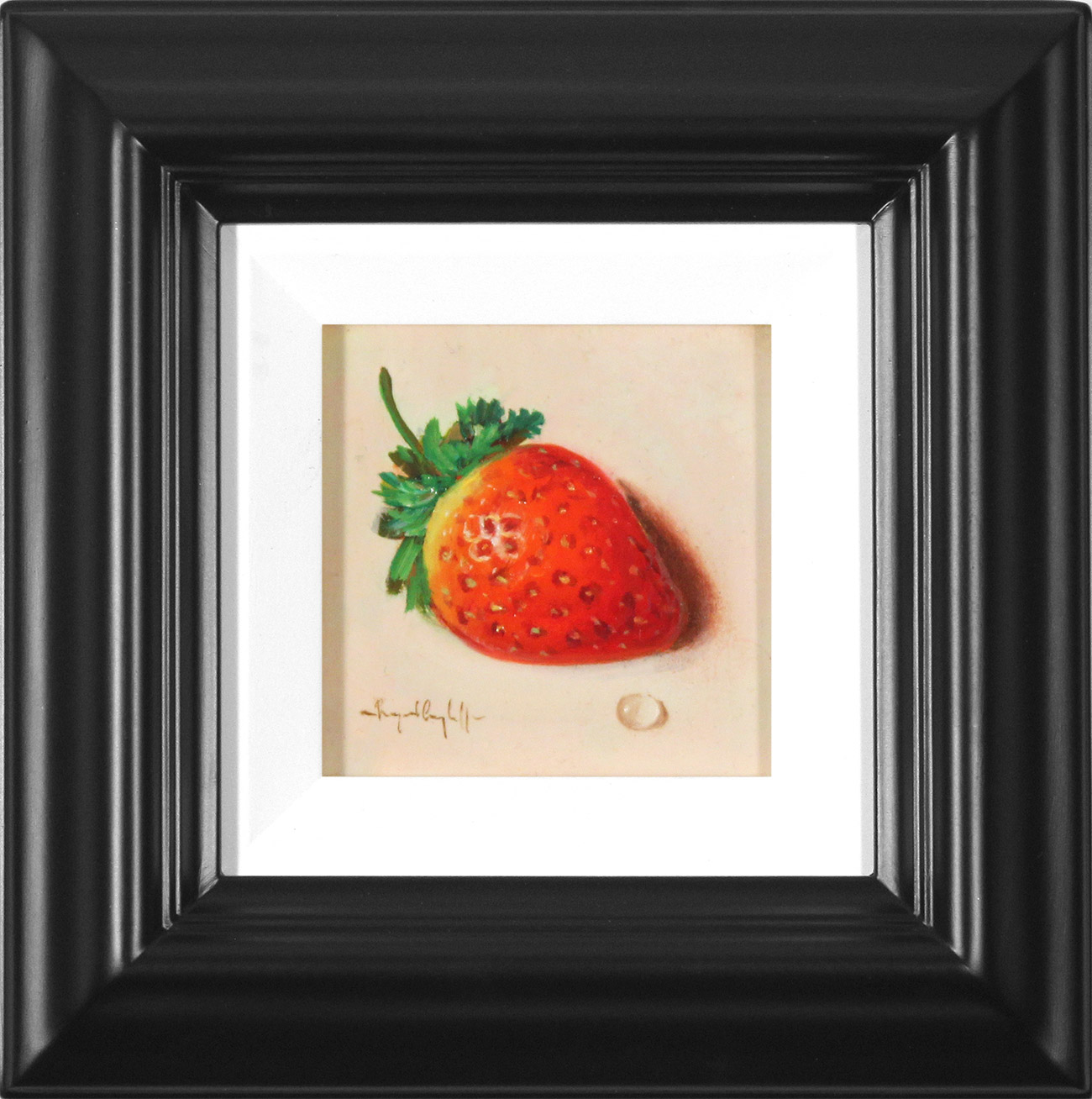 Raymond Campbell, Original oil painting on panel, Strawberry , click to enlarge