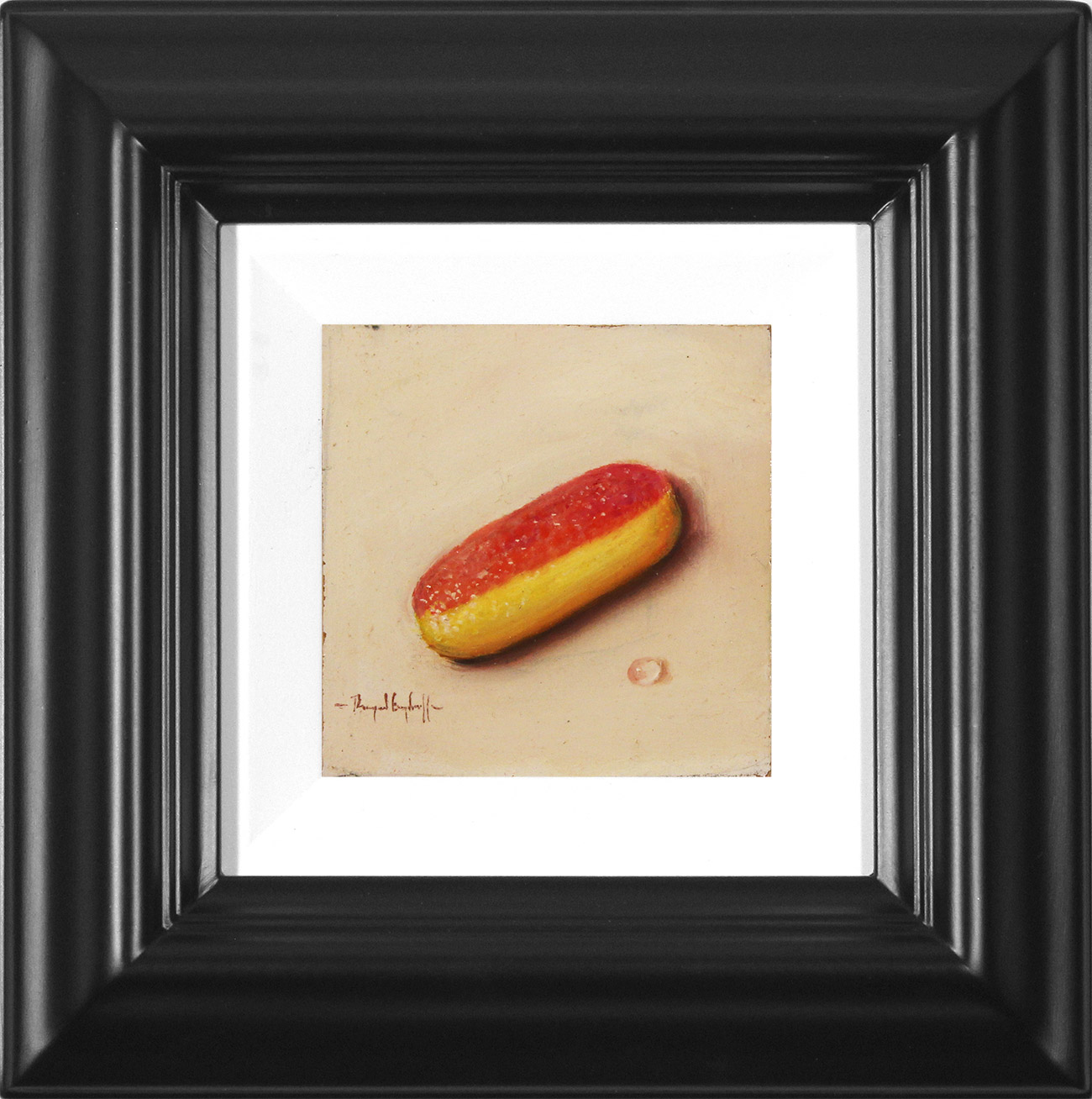 Raymond Campbell, Original oil painting on panel, Rhubarb and Custard , click to enlarge