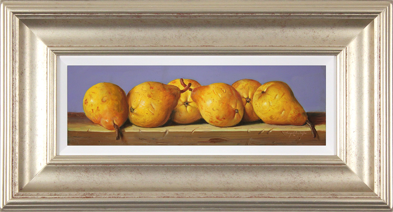 Raymond Campbell, Original oil painting on panel, Pears, click to enlarge