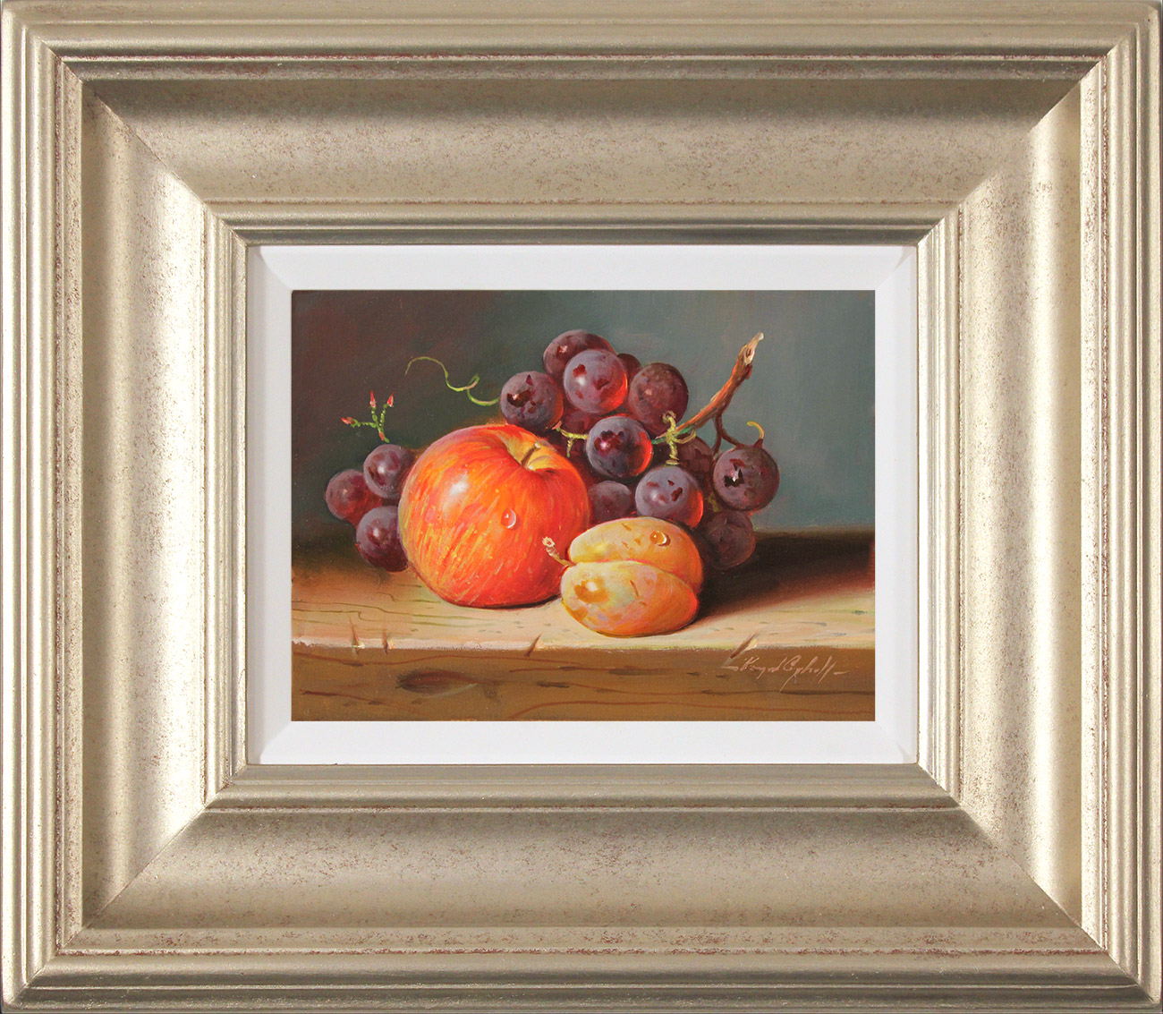 Raymond Campbell, Original oil painting on panel, Fresh Fruit , click to enlarge