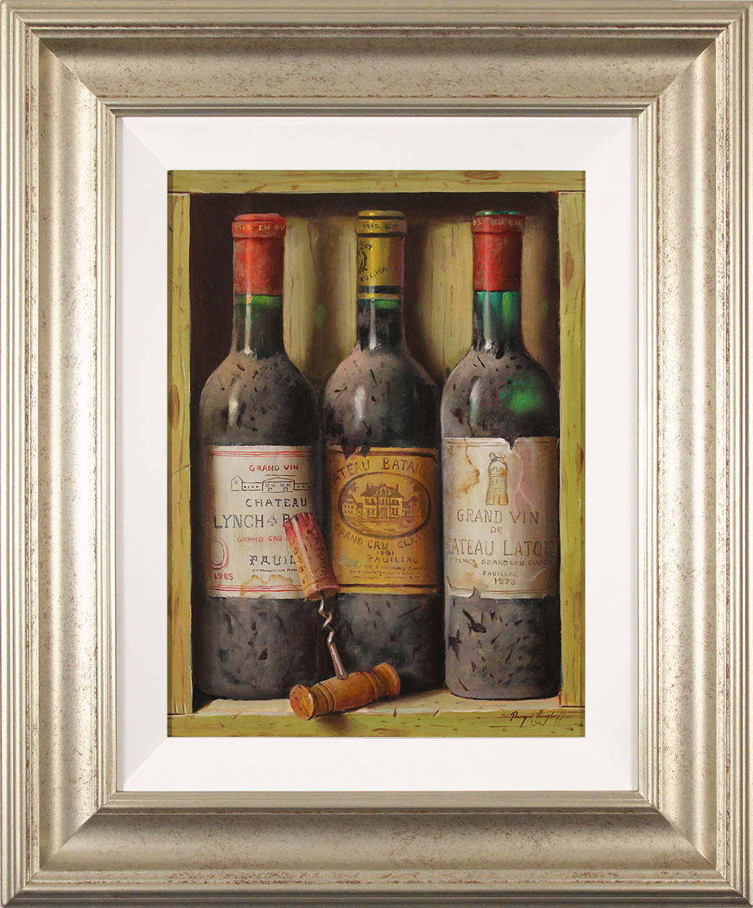 Raymond Campbell, Original oil painting on panel, Treasures of the Cellar , click to enlarge