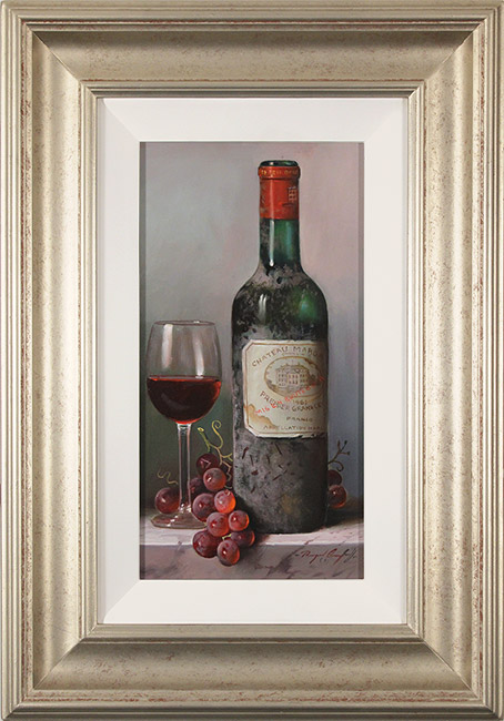 Raymond Campbell, Original oil painting on panel, Chateau Margaux, 1961