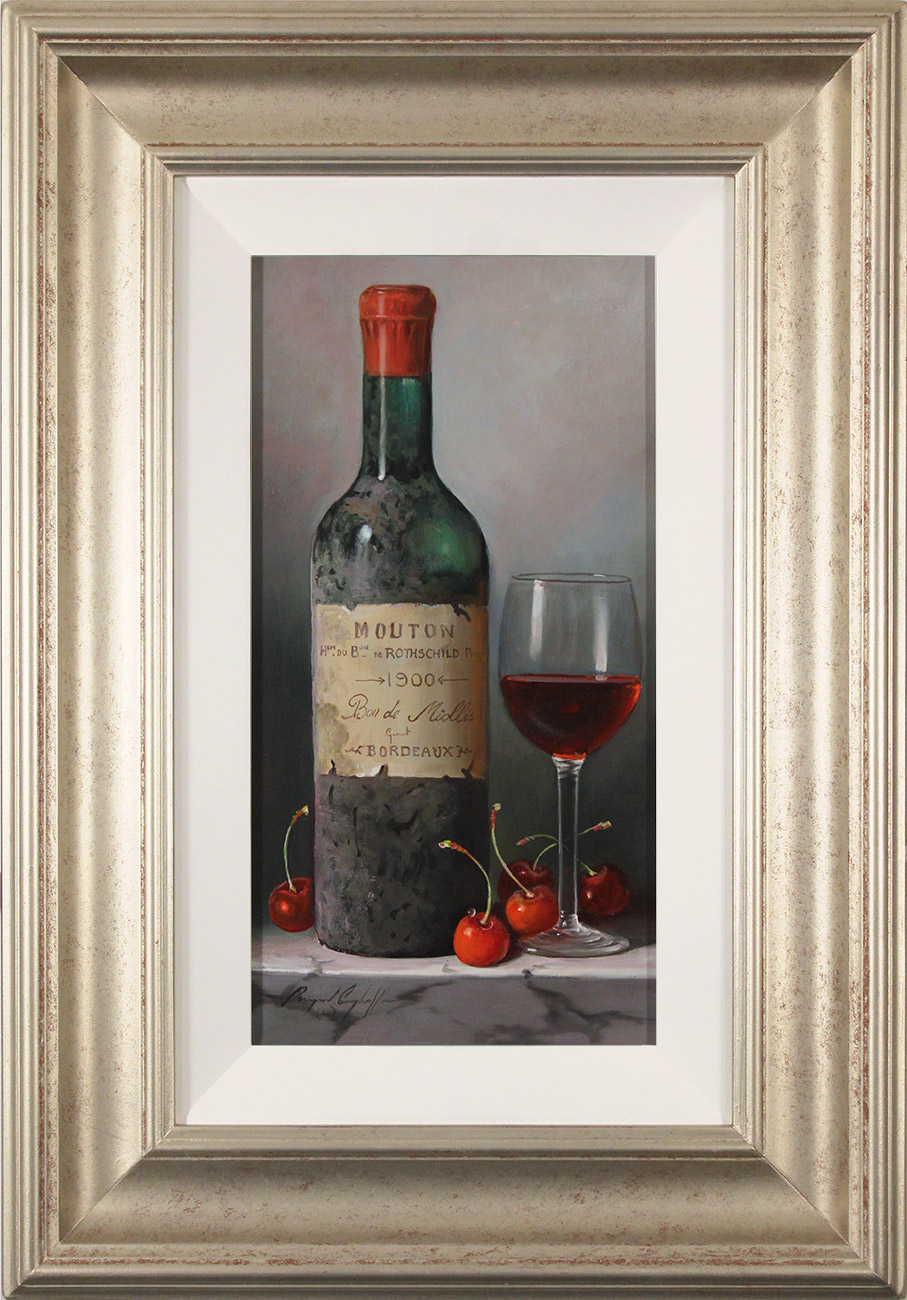 Raymond Campbell, Original oil painting on panel, Mouton Rothschild Bordeaux, 1900, click to enlarge