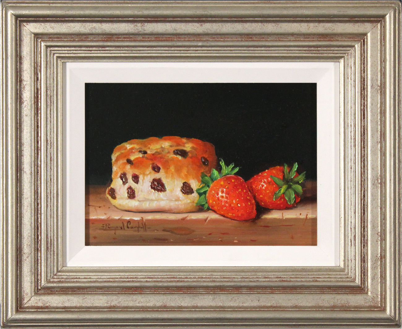 Raymond Campbell, Original oil painting on panel, Afternoon Tea, click to enlarge