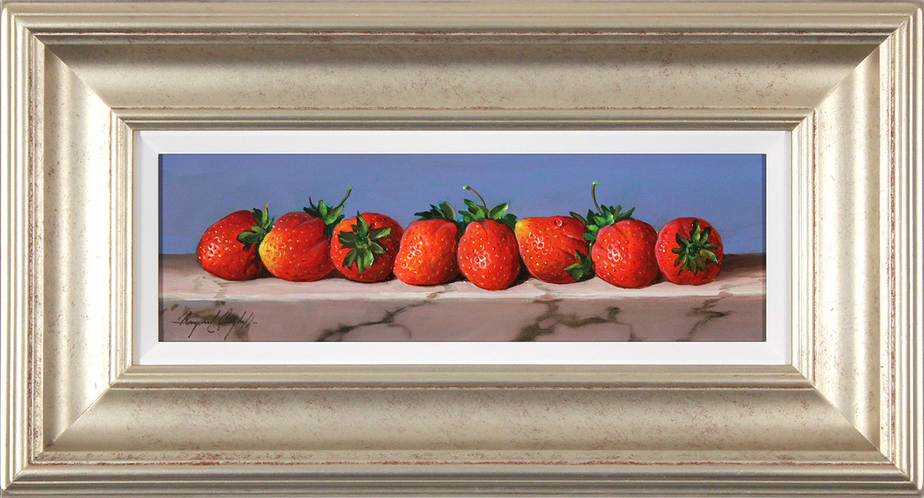 Raymond Campbell, Original oil painting on panel, Strawberries, click to enlarge