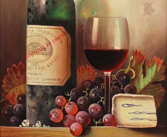 Raymond Campbell, 'Chateaux Margaux, 1961' Oil on canvas