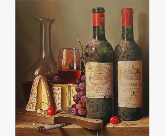 Raymond Campbell, Fine Pairings, Original oil painting on panel