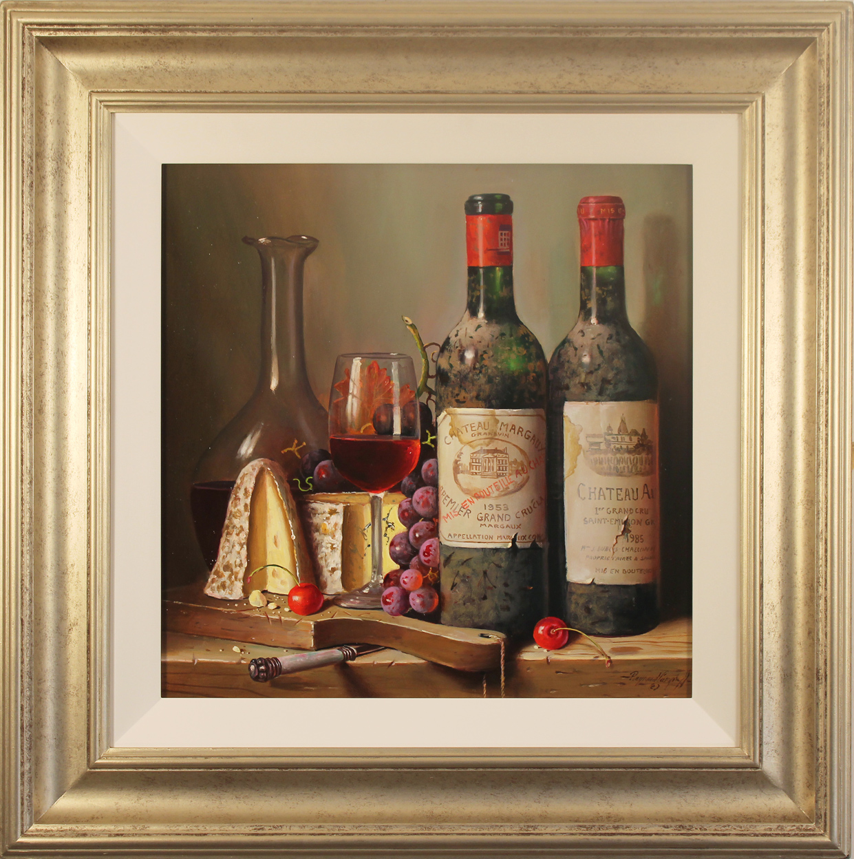 Raymond Campbell, Original oil painting on panel, Fine Pairings, click to enlarge