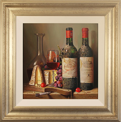 Raymond Campbell, Original oil painting on panel, Fine Pairings