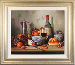 Raymond Campbell, Original oil painting on panel, A Sumptuous Selection