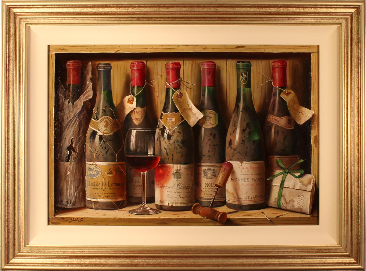 Raymond Campbell, Original oil painting on panel, Burgundies, click to enlarge
