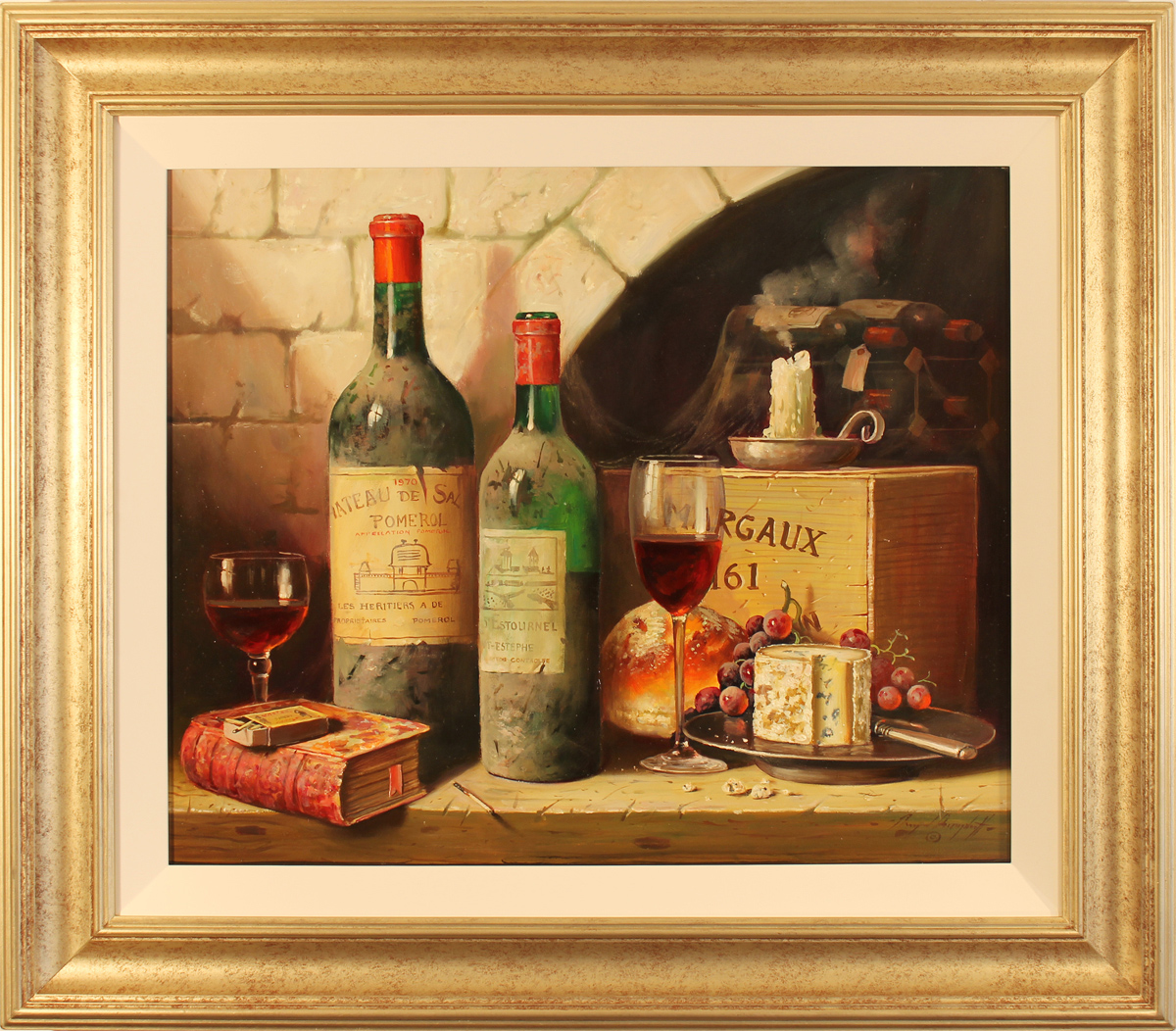 Raymond Campbell, Original oil painting on panel, Chateau De Sales 1970, click to enlarge