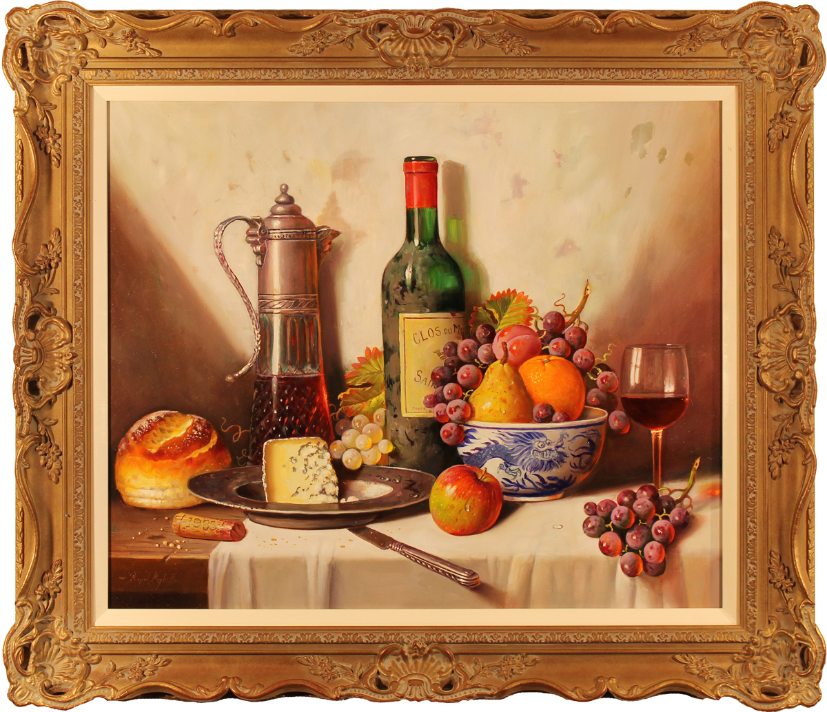 Raymond Campbell, Original oil painting on panel, Clos Du Marquis 1988. Click to enlarge