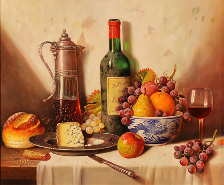 Raymond Campbell, Original oil painting on panel, Clos Du Marquis 1988 Without frame image. Click to enlarge