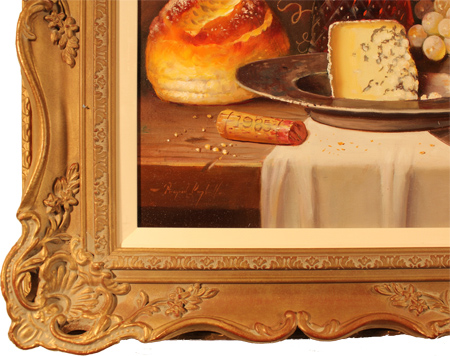 Raymond Campbell, Original oil painting on panel, Clos Du Marquis 1988 Signature image. Click to enlarge