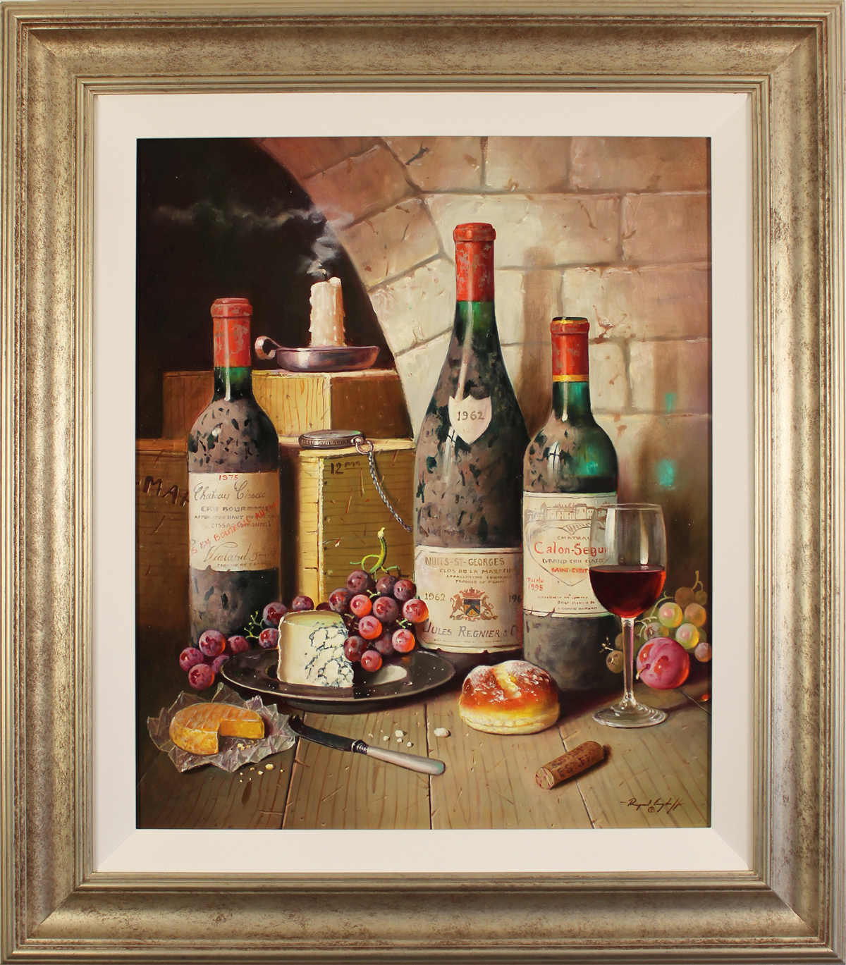 Raymond Campbell, Original oil painting on panel, Cellar Favourites. Click to enlarge