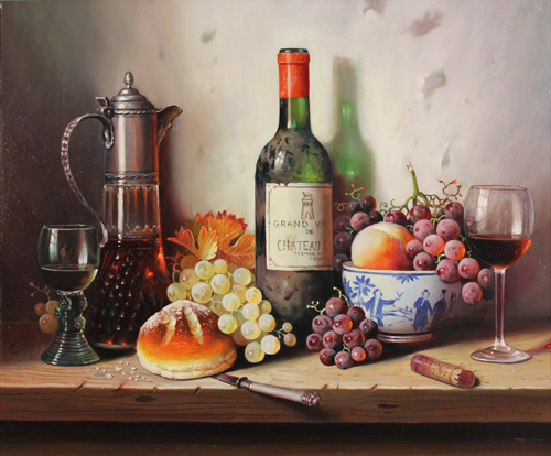 Raymond Campbell, 'Chateau Latour 1945' Oil on canvas