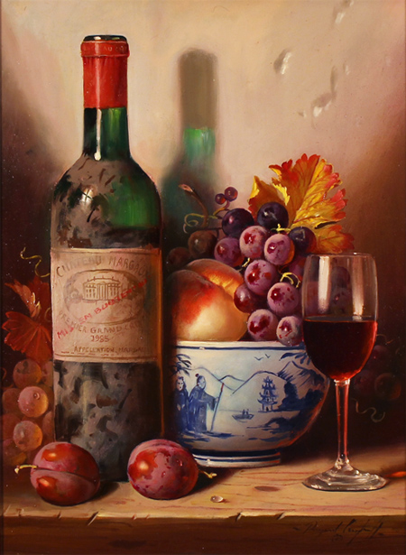 Raymond Campbell, 'Chateau Margaux, 1985' Oil on canvas