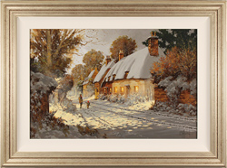Richard Telford, Original oil painting on panel, A Winter's Walk