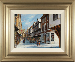 Gordon Lees, Stonegate, York, Original oil painting on panel