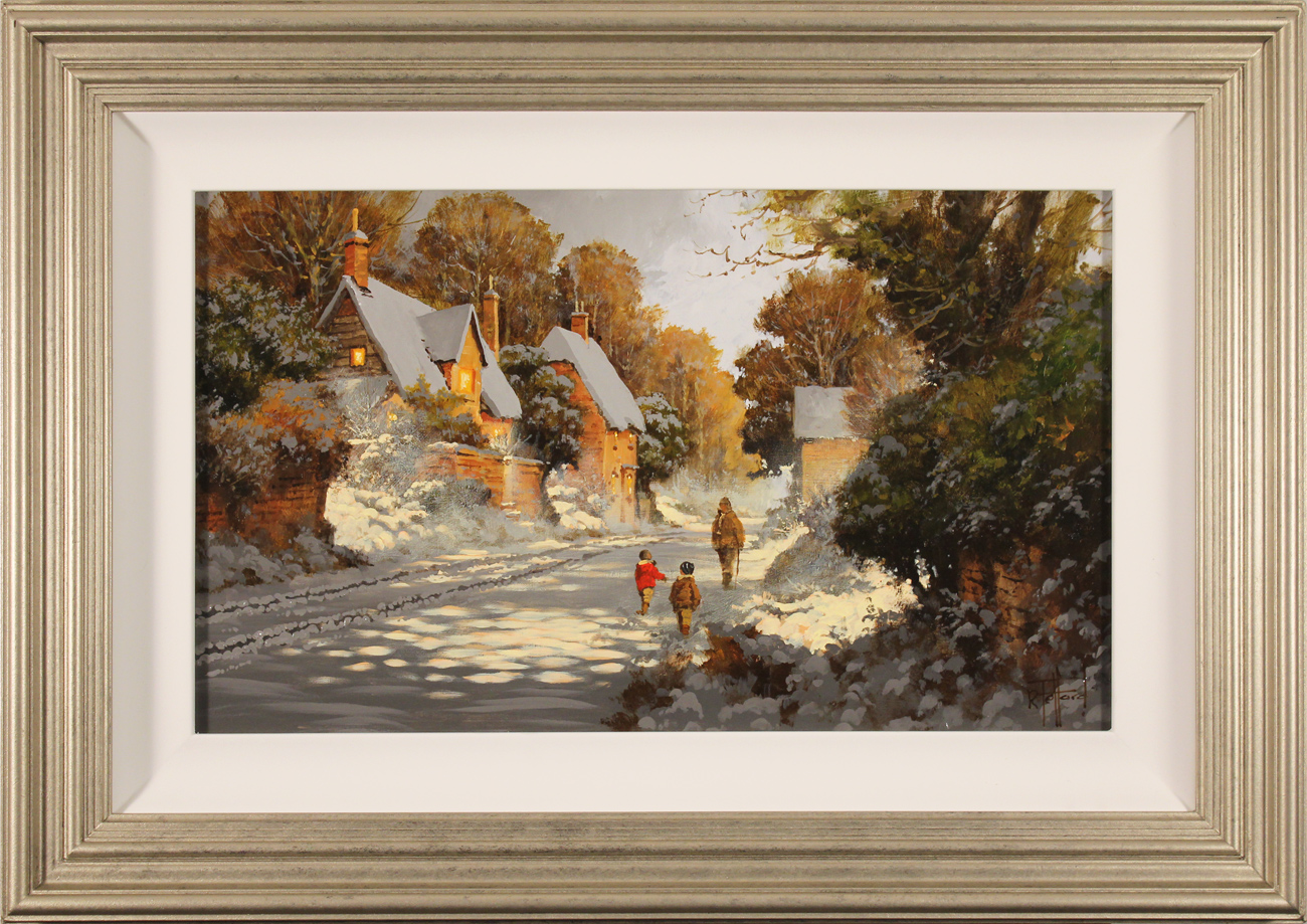 Richard Telford, Original oil painting on panel, Wait for Me!. Click to enlarge