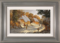 Richard Telford, Original oil painting on panel, Boxing Day Stroll Large image. Click to enlarge