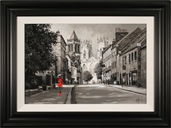 Richard Telford, Original oil painting on panel, Minster Walk, York