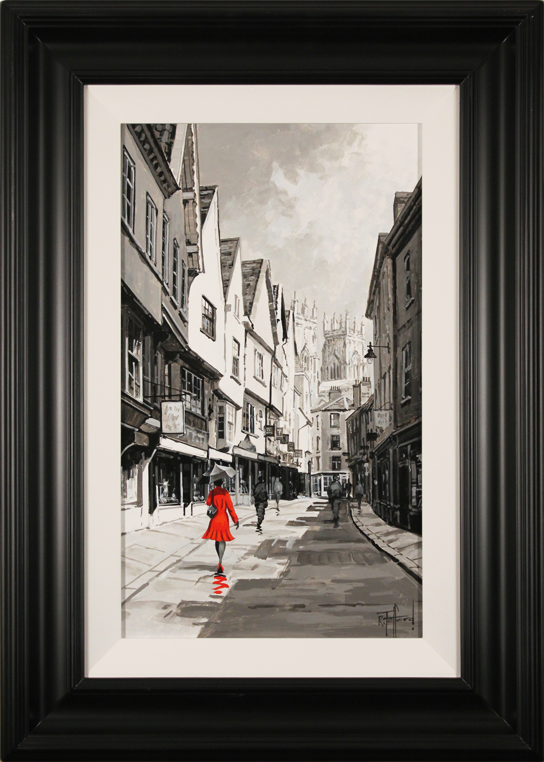Richard Telford, Original oil painting on panel, Stroll Down The Shambles, click to enlarge