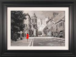 Richard Telford, Original oil painting on panel, Walk to York Minster Large image. Click to enlarge