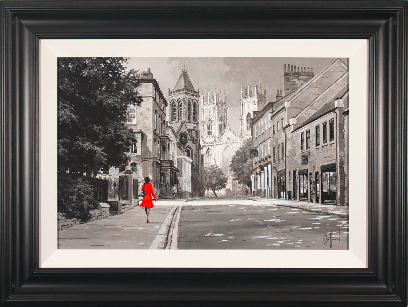 Richard Telford, Original oil painting on panel, Walk to York Minster, click to enlarge
