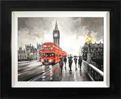 Richard Telford, Original oil painting on panel, Westminster Bridge, London Large image. Click to enlarge