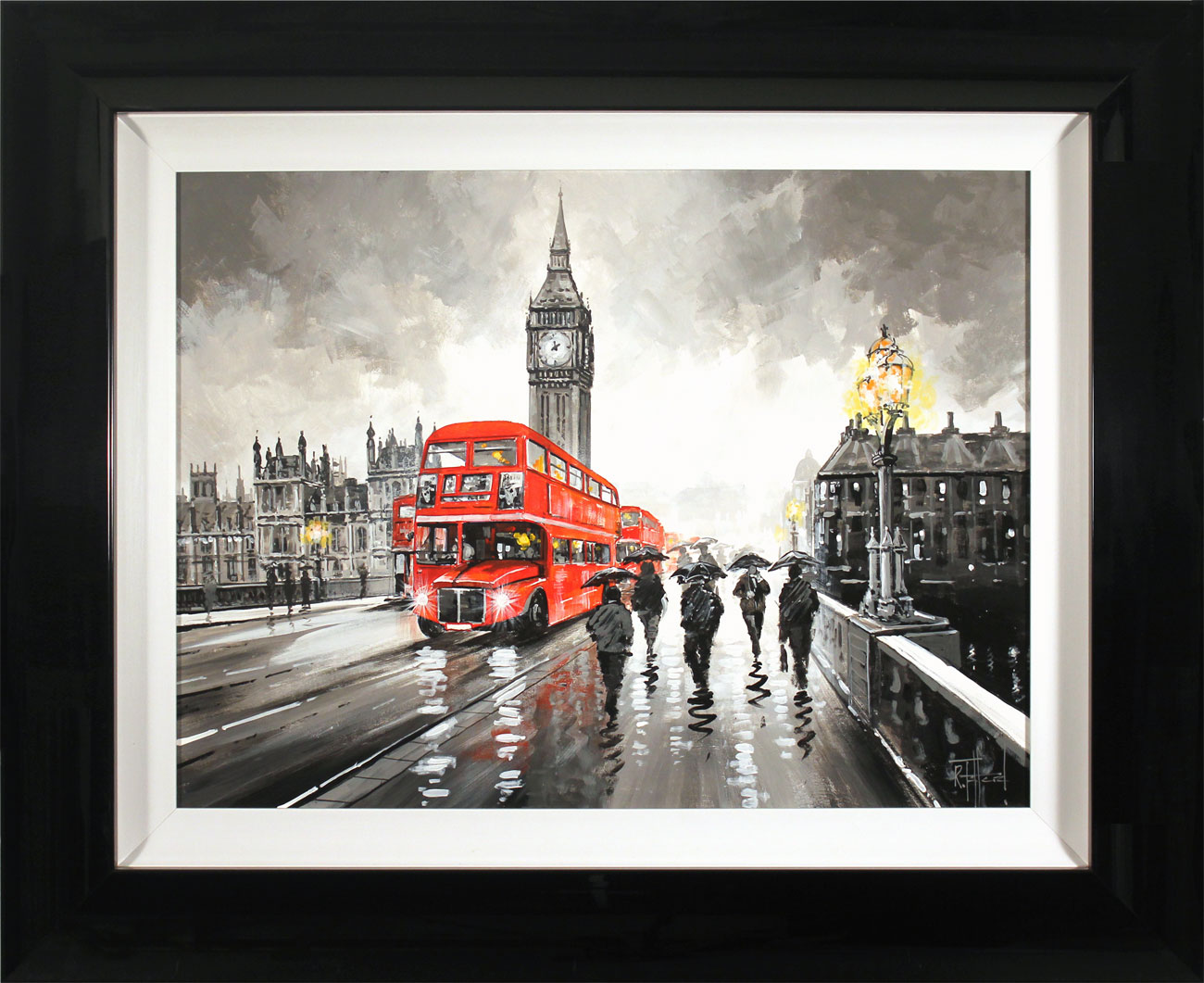 Richard Telford, Original oil painting on panel, Westminster Bridge, London. Click to enlarge