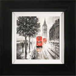 Richard Telford, Original oil painting on panel, London Calling Large image. Click to enlarge