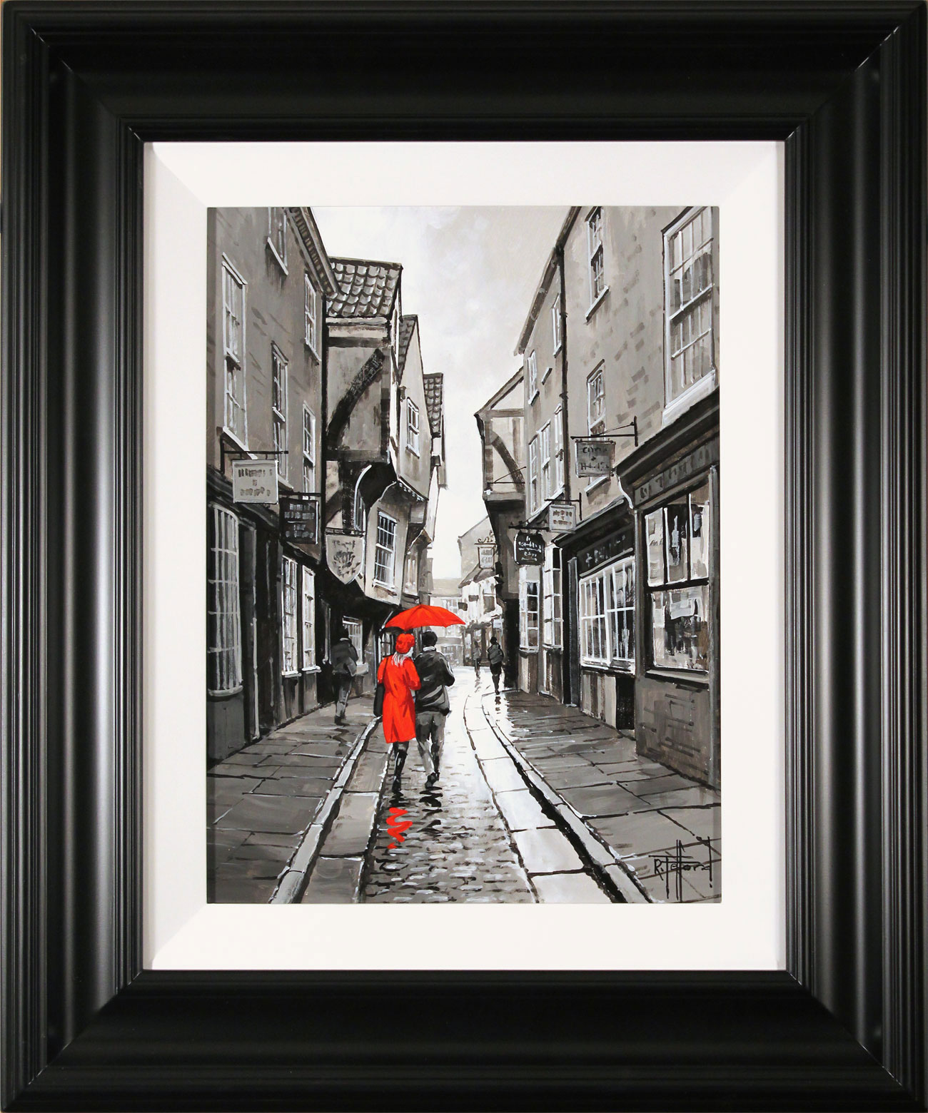 Richard Telford, Original oil painting on panel, The Shambles, York, click to enlarge