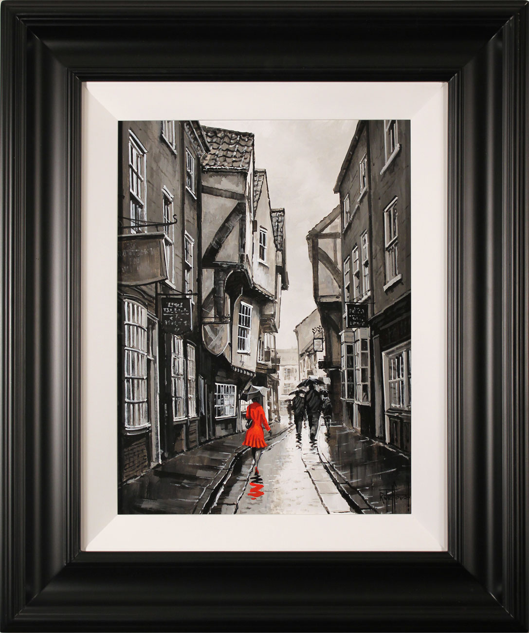 Richard Telford, Original oil painting on panel, The Shambles, York. Click to enlarge