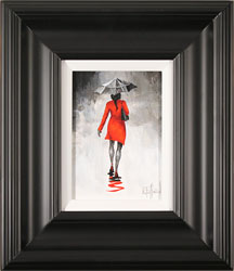Richard Telford, Original oil painting on panel, The Red Coat