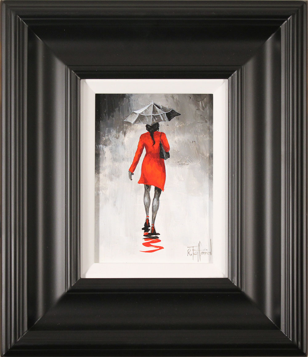 Richard Telford, Original oil painting on panel, The Red Coat. Click to enlarge