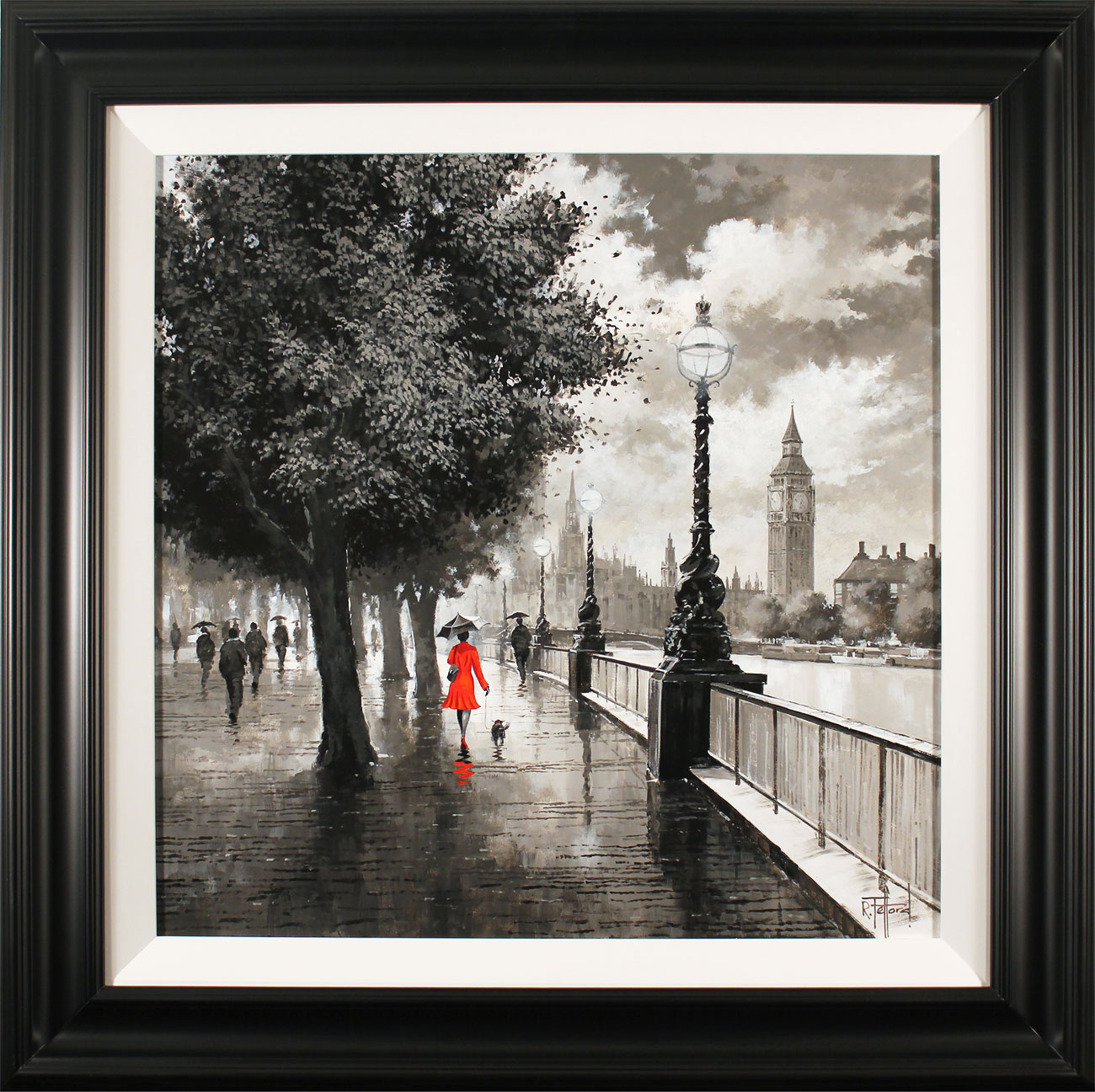 Richard Telford, Original oil painting on panel, The Queen's Walk, London, click to enlarge