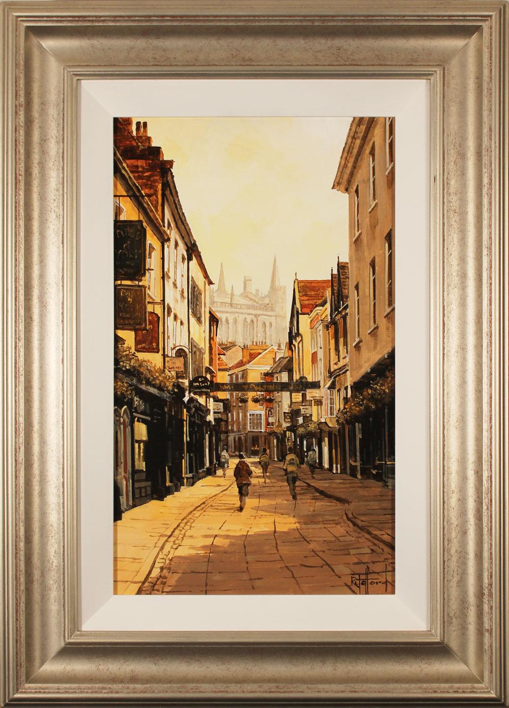 Richard Telford, Original oil painting on panel, Soft Light on Stonegate, York, click to enlarge