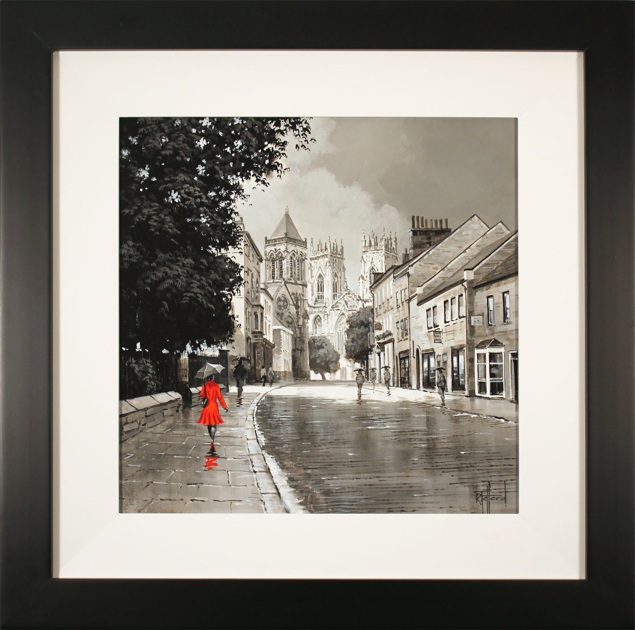 Richard Telford, Original oil painting on panel, York Minster, click to enlarge