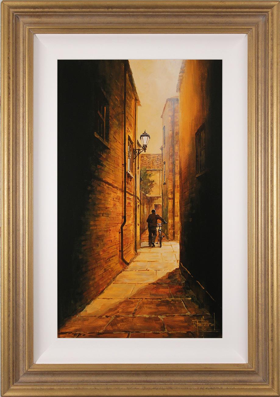 Richard Telford, Original oil painting on panel, Mad Alice Lane, York, click to enlarge