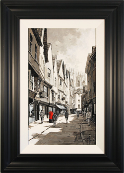 Richard Telford, Original oil painting on panel, Low Petergate, York