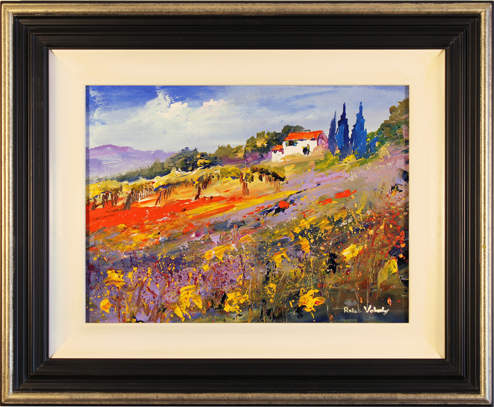 Roberto Luigi Valente, Original acrylic painting on board, Tuscan Landscape. Click to enlarge