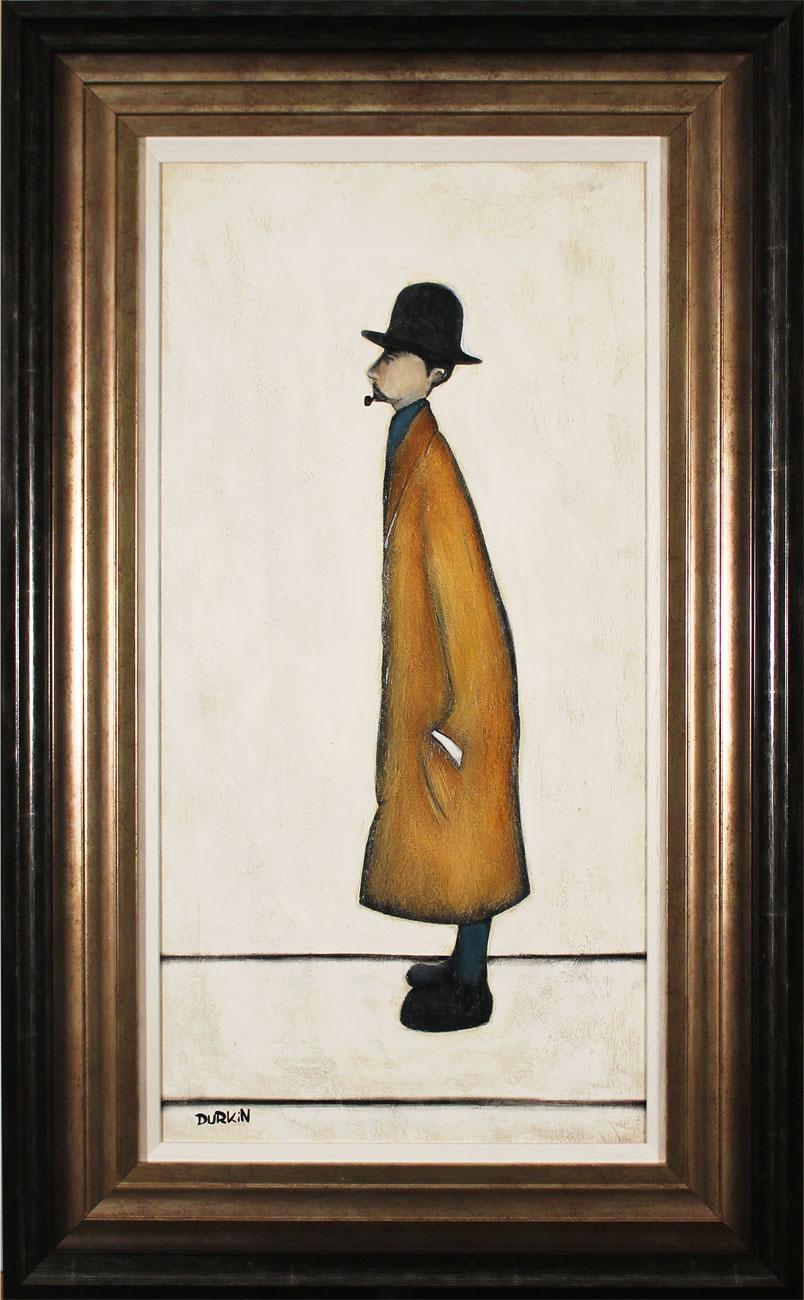 Sean Durkin, Original oil painting on panel, Gentleman Looking at Everything, click to enlarge