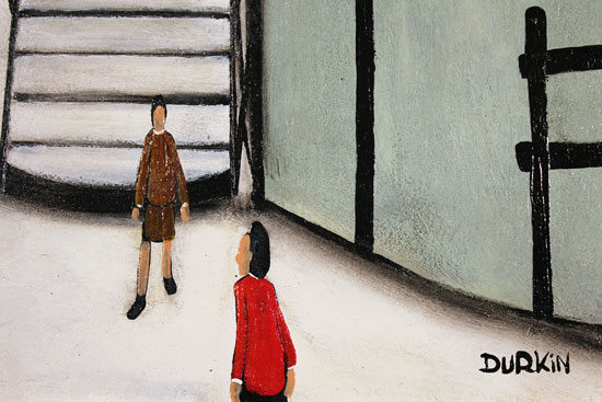 Sean Durkin, Original oil painting on panel, Thirty Eight Steps Signature image. Click to enlarge